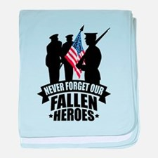 Never Forget Fallen baby blanket
