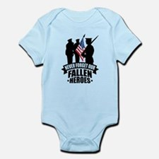 Never Forget Fallen Infant Bodysuit