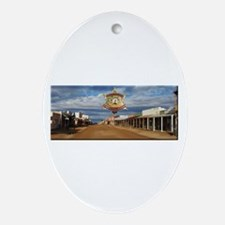 Tombstone Marshal Oval Ornament