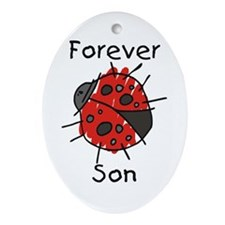 Forever Son Oval Ornament