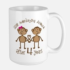 4th Anniversary Love Monkeys Mugs