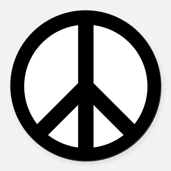 Peace Out Round Car Magnet