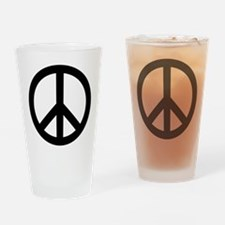 Peace Out Drinking Glass