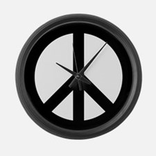 Peace Out Large Wall Clock