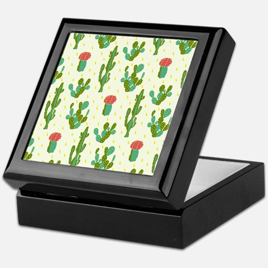 Cactus Pattern Keepsake Box