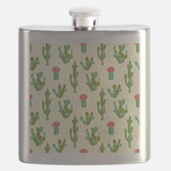 Cactus Pattern Flask