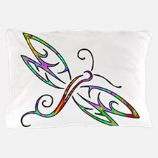 Colorful dragonfly Pillow Case