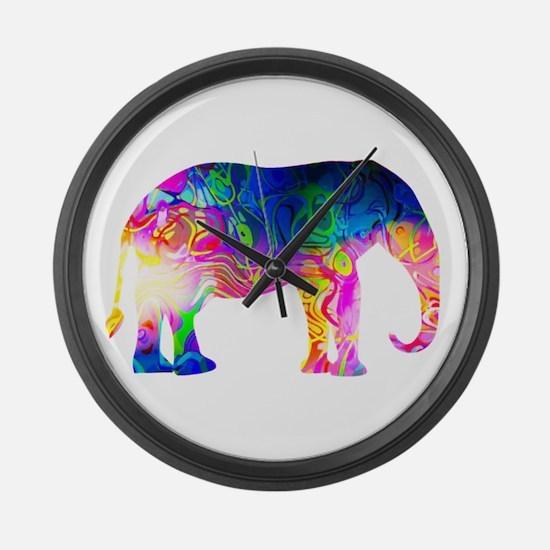 Cool spaghetti Elephant Large Wall Clock