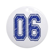 06 Jersey Year Ornament (Round)