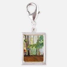 Cute Summer camp Silver Portrait Charm