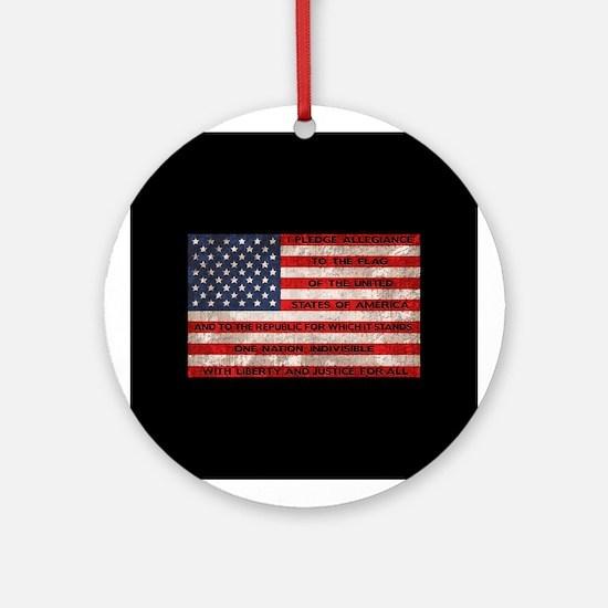 Original Pledge Round Ornament