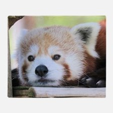 Funny Red panda Throw Blanket