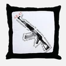 AK-47 Throw Pillow
