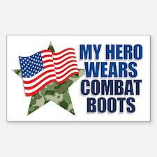 My hero wears combat boots Decal