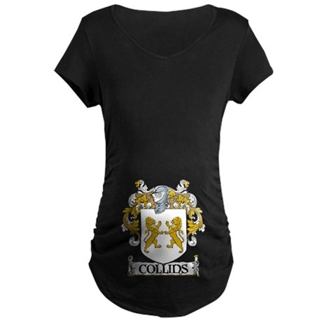 Collins Coat of Arms Maternity Dark T-Shirt