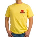 STOP/NEVER DIED- T-SHIRT Yellow T-Shirt