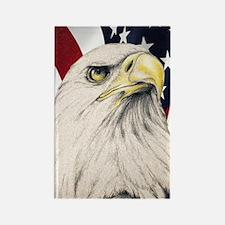 Unique Bald eagle pencil drawings Rectangle Magnet