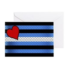 BRICK LEATHER PRIDE FLAG Greeting Card
