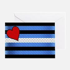 BRICK LEATHER PRIDE FLAG Greeting Card