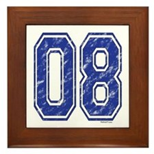 08 Jersey Year Framed Tile