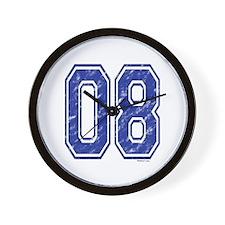 08 Jersey Year Wall Clock