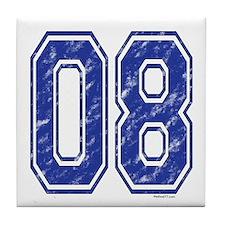 08 Jersey Year Tile Coaster