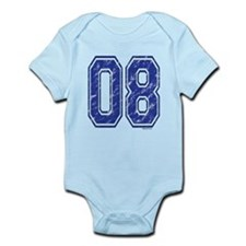08 Jersey Year Infant Bodysuit