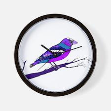 Blueberry Bird Wall Clock