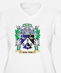 Walton Coat of Arms - Family Cre Plus Size T-Shirt