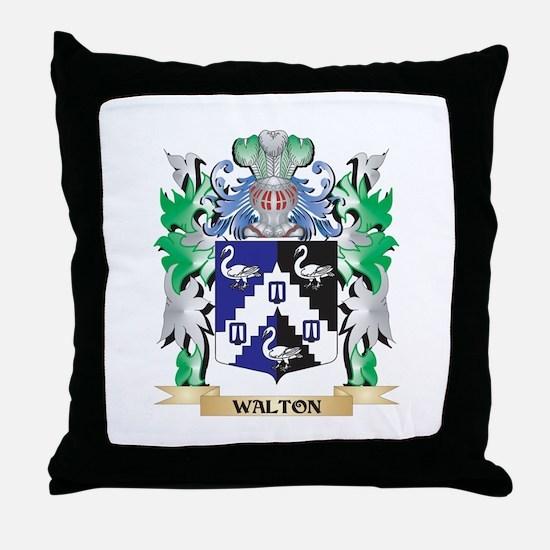 Walton Coat of Arms - Family Crest Throw Pillow