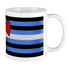 BRICK LEATHER PRIDE FLAG Small Mugs