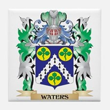 Waters Coat of Arms - Family Crest Tile Coaster