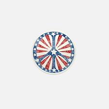 Retro American Peace Sign Mini Button