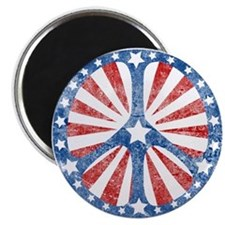 Retro American Peace Sign Magnet