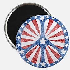 Retro American Peace Sign Magnet