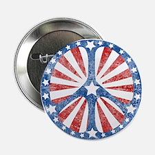 """Retro American Peace Sign 2.25"""" Button"""