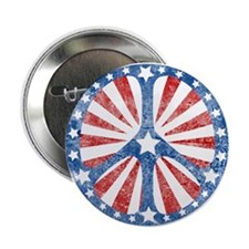 "Retro American Peace Sign 2.25"" Button (10 pack)"