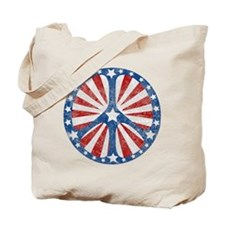 Retro American Peace Sign Tote Bag
