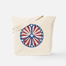 Retro American Peace Sign Tote Bag