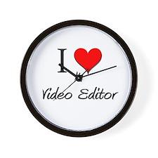 I Love My Video Editor Wall Clock