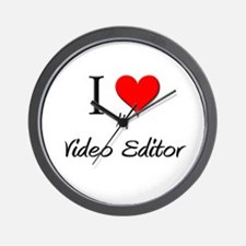 I Love My Video Editor Wall Clock