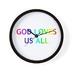 GOD LOVES US ALL Wall Clock