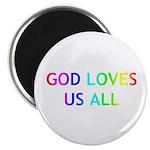 """GOD LOVES US ALL 2.25"""" Magnet (100 pack)"""