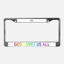 GOD LOVES US ALL License Plate Frame