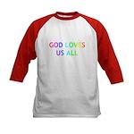GOD LOVES US ALL Kids Baseball Jersey