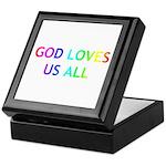 GOD LOVES US ALL Keepsake Box