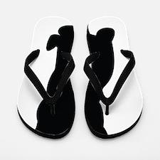 Silhouette of cat Flip Flops