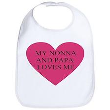 Nonna and papa loves me pink Bib