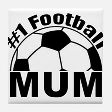 number 1 football mum supporter Tile Coaster