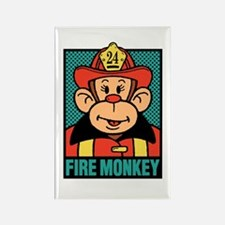 Fire Monkey Rectangle Magnet